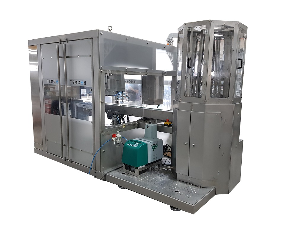 Lid applicator machine